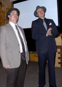 John Chase and Kevin Hamill as Bud Abbott and Lou Costello (CH070227)