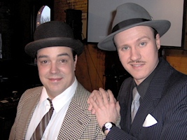 Chase & Hamill as Abbott & Costello