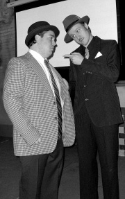 John Chase and Kevin Hamill as Bud Abbott and Lou Costello